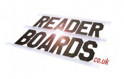Readerboards are replacement letter sysytems for Signs you can change letters