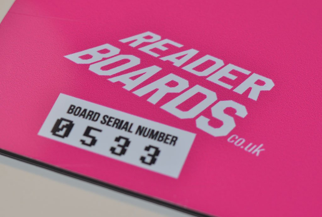 Our replaceable sign systems are printed with a bespoke serial number