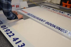 assembling an outdoor display sign with inter changeable letters for sports club fixture boards