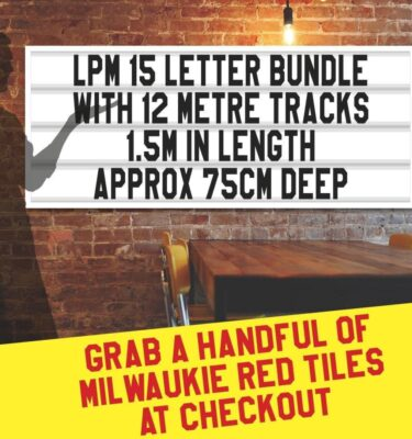 LPM 15 letter bundle with 12m of tracking