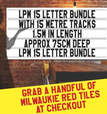 LPM 15 letter bundle with 15m tracks 1.5m in length, 75cm deep