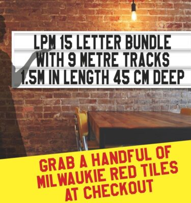 LPM 15 letter bundle with 9m tracks 1.5m in length, 45cm deep